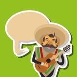 Conception mexicaine de culture, illustration de vecteur Icônes du Mexique Photographie stock