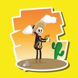 Conception mexicaine de culture, illustration de vecteur Icônes du Mexique Image stock