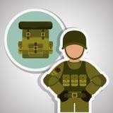Conception militaire de soldat, illustration de vecteur Images libres de droits