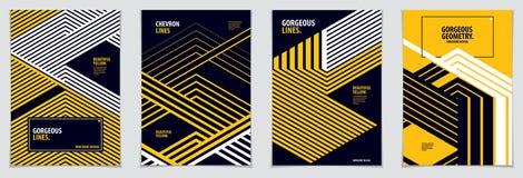 Conception minimale de couvertures Ba abstrait de modèles géométriques réglés de vecteur illustration libre de droits