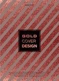 Conception minimale moderne et élégante Fond brillant de cuivre Texture métallique Métal en bronze Image libre de droits