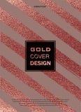 Conception minimale moderne et élégante Fond brillant de cuivre Texture métallique Métal en bronze Images libres de droits