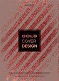 Conception minimale moderne et élégante Fond brillant de cuivre Texture métallique Métal en bronze Photo stock