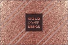 Conception minimale moderne et élégante Fond brillant de cuivre Texture métallique Métal en bronze Images stock