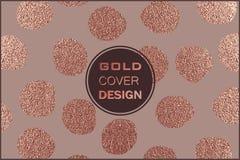 Conception minimale moderne et élégante Fond brillant de cuivre Texture métallique Métal en bronze Photos stock