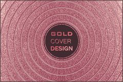 Conception minimale moderne et élégante Fond brillant de cuivre Texture métallique Métal en bronze Photo libre de droits