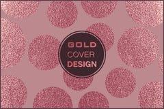 Conception minimale moderne et élégante Fond brillant de cuivre Texture métallique Métal en bronze Photos libres de droits