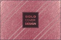 Conception minimale moderne et élégante Fond brillant de cuivre Texture métallique Métal en bronze illustration stock
