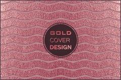 Conception minimale moderne et élégante Fond brillant de cuivre Texture métallique Métal en bronze Photographie stock libre de droits