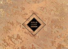 Conception minimale moderne et élégante Fond brillant de cuivre Texture métallique Métal en bronze Image stock