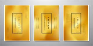 Conception minimaliste abstraite de fond d'or une collection de milieux colorés par or luxueux illustration de vecteur