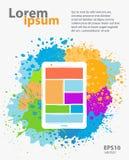 Conception mobile d'application d'APP Image libre de droits
