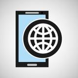 Conception mobile de globe du media social APP Photo libre de droits