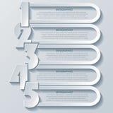 Conception moderne abstraite d'infographics avec des nombres Photo stock