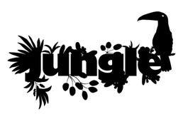 Conception moderne avec des tropiques de silhouette Illustration de vecteur illustration de vecteur