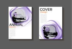 Conception moderne BO moderne de couverture de fond abstrait pourpre de disposition Images libres de droits