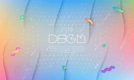 conception moderne colorée de fond Calibre de contexte de présentation de couverture Vecteur pour l'affiche, rapport, bannière, t illustration libre de droits