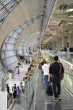 Conception moderne d'aéroport international de Bangkok à Bangkok Photo libre de droits