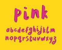 Conception moderne d'alphabet Police de brosse de main, marquant avec des lettres le style Lettres anglaises Clipart (images grap image stock