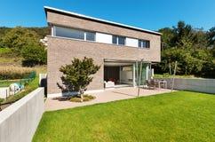 Conception moderne d'architecture, maison Image stock