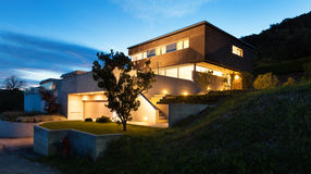 Conception moderne d'architecture, maison Photo stock