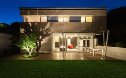 Conception moderne d'architecture, maison, extérieure Image libre de droits