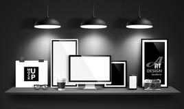 Conception moderne d'espace de travail Vecteur Photo stock
