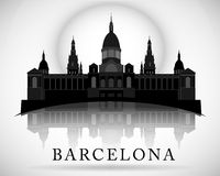 Conception moderne d'horizon de ville de Barcelone l'espagne Photographie stock