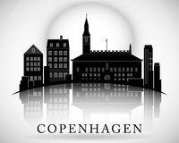Conception moderne d'horizon de ville de Copenhague denmark illustration stock