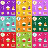 Conception moderne d'icônes de Web pour l'éducation réglée d'icône mobile d'ombre Photo libre de droits