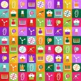 Conception moderne d'icônes de Web pour l'éducation réglée d'icône mobile d'ombre Photos libres de droits