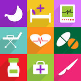Conception moderne d'icônes de Web pour l'ensemble mobile d'icône d'ombre Image stock