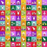 Conception moderne d'icônes de Web pour le transport réglé d'icône mobile d'ombre Image libre de droits