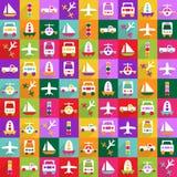 Conception moderne d'icônes de Web pour le transport réglé d'icône mobile d'ombre Photo libre de droits