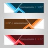 Conception moderne de calibre de bannière créative avec le fond abstrait illustration de vecteur