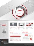 Conception moderne de calibre de site Web Image libre de droits