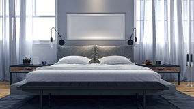 Conception moderne de chambre à coucher Image stock