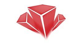 Conception moderne de logo d'immeubles de bureau de propriété illustration stock