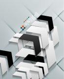 Conception moderne de papier de flèches de vecteur Image stock