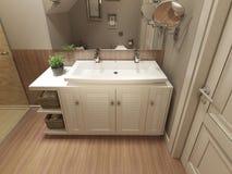 Conception moderne de salle de bains Photographie stock libre de droits