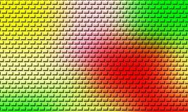 Conception multi de couleur de vecteur d'illustration du mur de briques 3 d de couleur illustration de vecteur