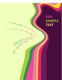 Conception multicolore d'onde abstraite Images libres de droits