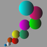 Conception multicolore de fond de boules Photographie stock