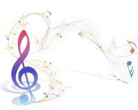 Conception musicale Photos stock