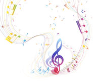 Conception musicale Image stock