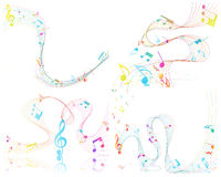 Conception musicale Images stock