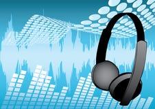 Conception musicale d'écouteurs Photographie stock libre de droits