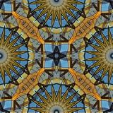 Conception mystérieusement numérique d'art des cercles et de l'étoile de verrouillage Illustration Stock