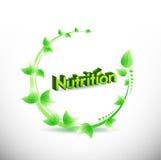 conception naturelle d'illustration de feuilles de nutrition Photos stock
