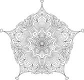 Conception noire abstraite de dentelle dans la ligne style mono - five-fing Image stock